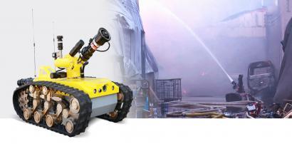 矿用履带式消防灭火机器人