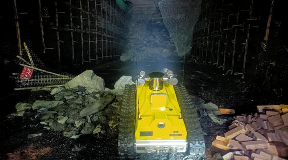 煤矿救援黑科技!矿用消防机器人亮相内蒙古某大型煤矿
