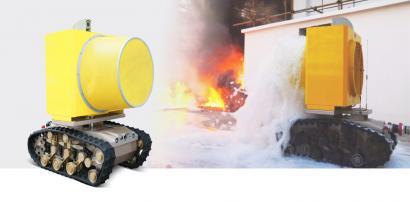 RXR-MC4JD-G 防爆消防高倍数泡沫灭火侦察机器人